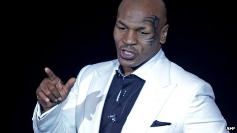 Former boxing heavyweight champion Mike Tyson pictured in April 2012