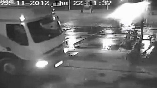 CCTV of diesel theft
