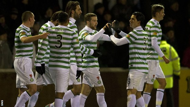 Celtic were 1-0 winners at Arbroath