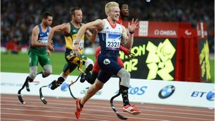 Men's 100m race at 2012 Paralympics