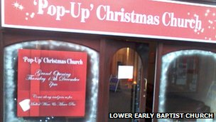 Pop up church in Lower Early