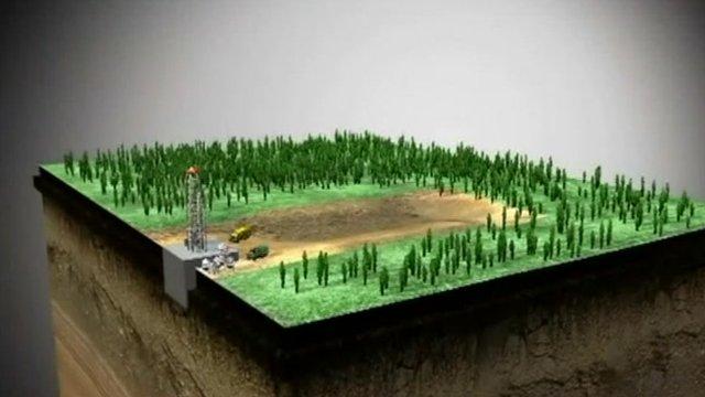 Fracking operation graphic
