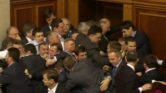 Fighting in parliament