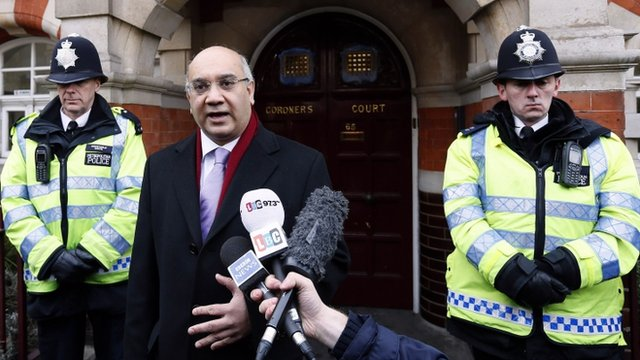 Keith Vaz outside the Coroner's Court