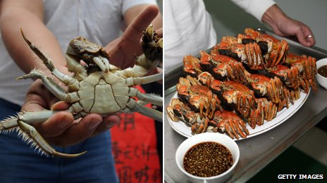 Hairy crabs in China