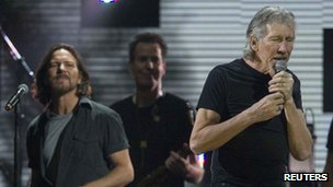 Roger Waters and Eddie Vedder