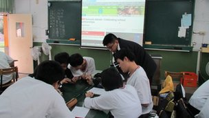 Wunshan Senior High School discuss School partnerships