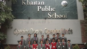 Khaitan Public School pupils in Sahibabad, India