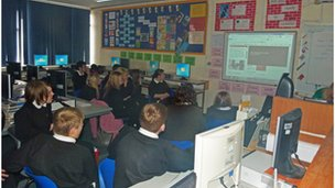 Ysgol Bryn Alyn students following the World Class live debate feed!