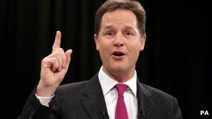 Nick Clegg, Lib Dem leader