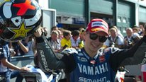 Jorge Lorenzo after winning the 2012 San Marino MotoGP at Misano
