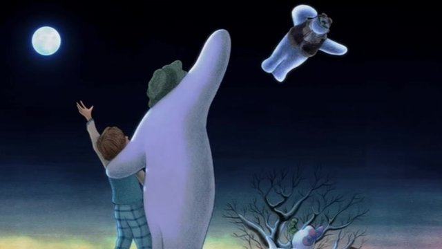Scene from The Snowman and The Snowdog