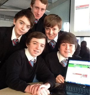 Upton pupils gather around the live debate page!