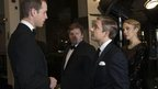 Prince William, the Duke of Cambridge, with Martin Freeman