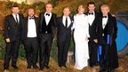 (l-r) Andy Serkis, Peter Jackson. James Nesbitt, Martin Freeman, Cate Blanchett, Richard Armitage and Sir Ian McKellen
