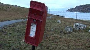 Vatersay post box