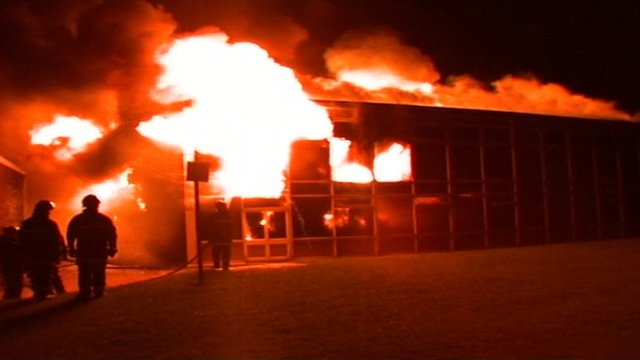 The fire at Carleton Community High School, Pontefract