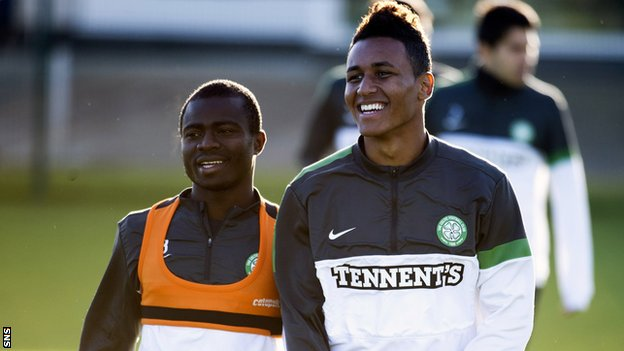 Acheampong and Agudelo in training with Celtic