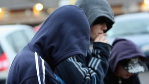 Generic picture of hooded youths