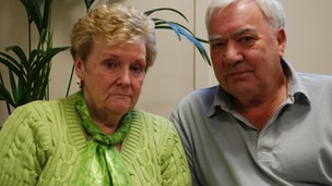 Nicola's parents Marilyn and John Payne