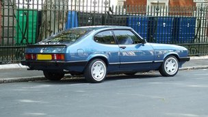 Blue Ford Capri