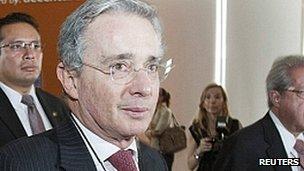Alvaro Uribe. Nov 2012
