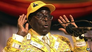 Robert Mugabe. Nov 2012