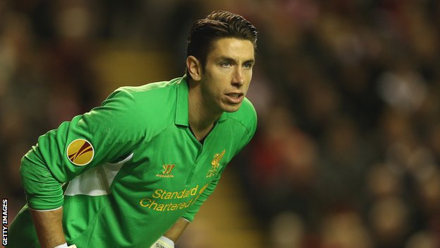 Liverpool goalkeeper Brad Jones