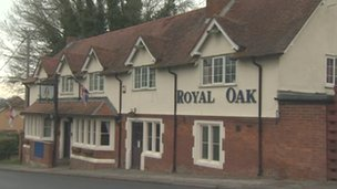 The Royal Oak pub, Shrewton in Wiltshire