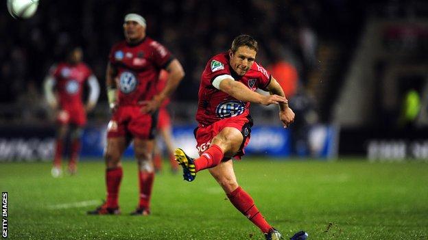 Toulon fly-half Jonny Wilkinson