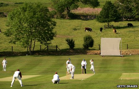 Markfield Cricket Club near Leicester, England