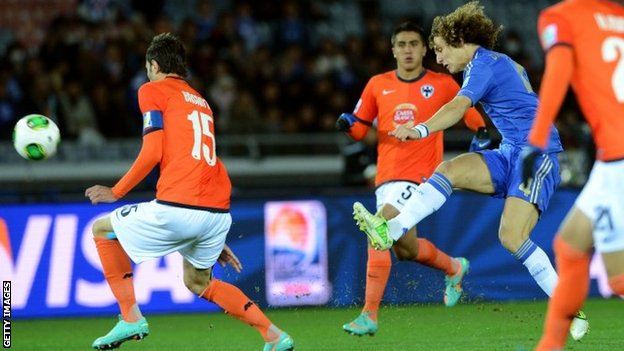 Chelsea's David Luiz in action against Monterrey in the Club World Cup