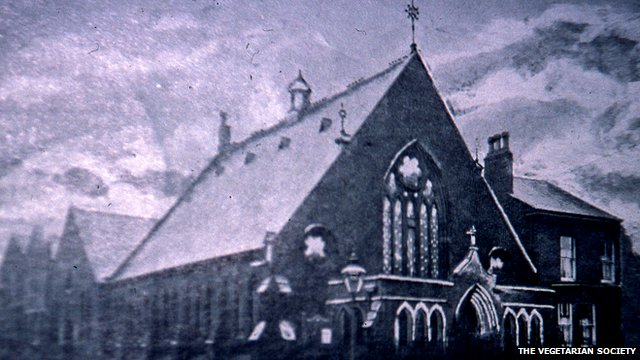 The Bible Christian Church, Salford in 1909