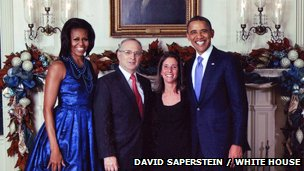 Michelle Obama, David Saperstein, Ellen Weiss, President Barack Obama