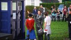 Matt Smith and Claire Skinner on location with Doctor Who in Cardiff