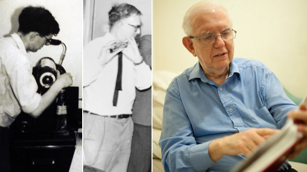 Gerald Kirsch as a young man (pictures contributed). Gerald Kirsch in 2012 (Pic: Phil Coomes/ BBC)