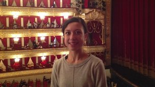 Tala Lee-Turton inside the Bolshoi Theatre