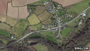 Aerial view of Tideford and A38