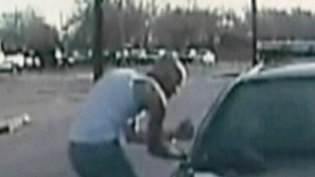 Darren Douglas Porter caught on camera stealing a police car in Texas