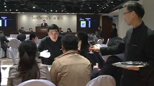 Sotheby&#039;s wine auction in Hong Kong