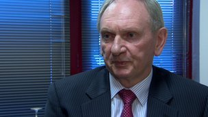 Jim Stewart says the A&E department at Antrim Area Hospital is too small
