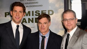 John Krasinski, Gus Van Sant and Matt Damon
