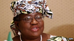 Nigeria's Finance Minister Ngozi Okonjo-Iweala in March 2012