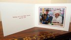 The inside of Prince of Wales and Duchess of Cornwall's 2012 Christmas card