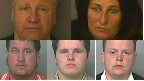 Clockwise from top left: William, Brida, Miles, James and John Connors