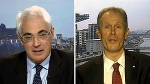 Alastair Darling and Blair Jenkins