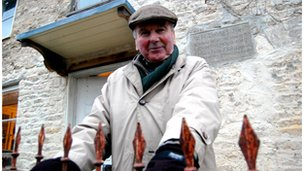 Norman Phillips, owner of Glendower cottage in Nailsworth, Gloucestershire