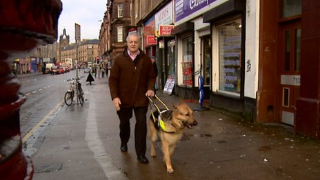 Ian and his new guide dog Renton are now a solid working team