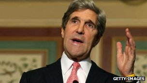 Senator John Kerry at a news conference in Washington (3 December 2012)