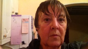 A wet and unhappy Lynne French, 22 November 2012